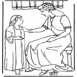 Bibel Ausmalbilder - Dienstmädchen von Naaman