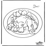 Ausmalbilder Tiere - Dino Fensterhänger