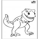Ausmalbilder Tiere - Dinosaurier 11