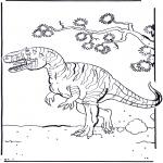 Ausmalbilder Tiere - Dinosaurier 2