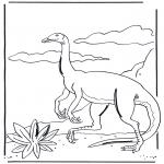 Ausmalbilder Tiere - Dinosaurier 3
