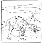 Ausmalbilder Tiere - Dinosaurier 4