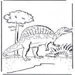 Ausmalbilder Tiere - Dinosaurier 5