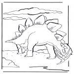 Ausmalbilder Tiere - Dinosaurier 6
