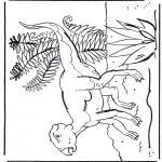 Ausmalbilder Tiere - Dinosaurier 7
