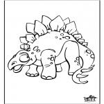 Ausmalbilder Tiere - Dinosaurier 9