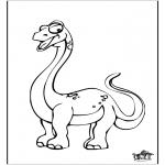 Ausmalbilder Tiere - Dinosaurier10