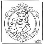 Ausmalbilder Comicfigure - Disney Prinzessin Belle 1