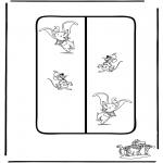 Ausmalbilder Comicfigure - Dombo Buchzeichen