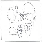 Ausmalbilder Themen - Dombo Weißstorch