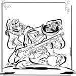 Ausmalbilder Comicfigure - Donald Duck 1