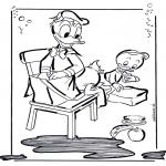 Ausmalbilder Comicfigure - Donald Duck 2