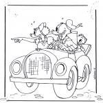 Ausmalbilder Comicfigure - Donald Duck 4