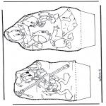 Basteln Stechkarten - Donald Duck Stechkarte
