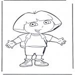 Ausmalbilder für Kinder - Dora 1