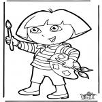 Ausmalbilder für Kinder - Dora 10