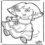 Ausmalbilder für Kinder - Dora 11