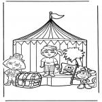 Ausmalbilder für Kinder - Dora 13