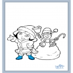 Ausmalbilder für Kinder - Dora 17