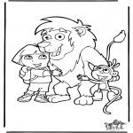 Ausmalbilder für Kinder - Dora 2