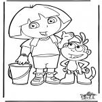 Ausmalbilder für Kinder - Dora 4