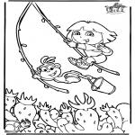 Ausmalbilder für Kinder - Dora 6