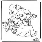 Ausmalbilder für Kinder - Dora 8