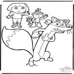 Ausmalbilder für Kinder - Dora 9