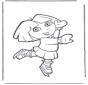 Dora auf Schlittschuhe