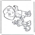 Ausmalbilder für Kinder - Dora ausmalbilder