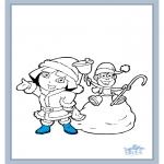 Malvorlagen Winter - Dora Winter