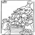 Ausmalbilder Themen - Doras Geburtstag