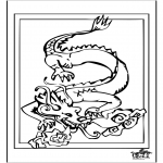 Ausmalbilder Tiere - Drache 4
