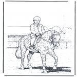 Ausmalbilder Tiere - Dressur