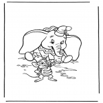 Ausmalbilder Comicfigure - Dumbo 3