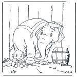 Ausmalbilder Comicfigure - Dumbo 4