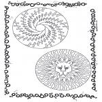 Malvorlagen Mandalas - Duo Mandala 7