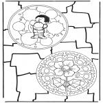Malvorlagen Mandalas - Duo mandala 8