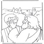 Bibel Ausmalbilder - Efata, Jesus heilt