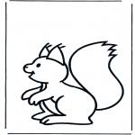 Ausmalbilder Tiere - Eichhörnchen 1