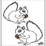 Ausmalbilder Tiere - Eichhörnchen 4