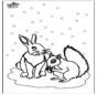 Eichhörnchen und Kaninchen