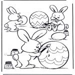 Ausmalbilder Themen - Eier malen
