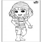Ausmalbilder für Kinder - Ein Mädchen 3