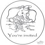 Malvorlagen Basteln - Einladung Dombo