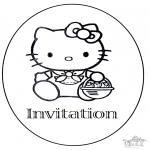 Malvorlagen Basteln - Einladung Geburtstag