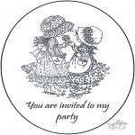 Malvorlagen Basteln - Einladung Sarah Kay 2