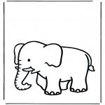 Ausmalbilder Tiere - Elefant 3