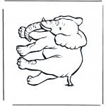 Ausmalbilder Tiere - Elefant 4