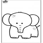 Ausmalbilder Tiere - Elefant 7
